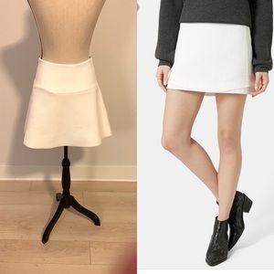 TOPSHOP White Basket Weave Underlay Mini Skirt